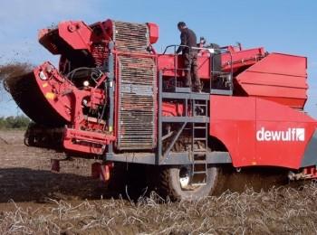 Diversidad de las máquinas para cosechar patatas