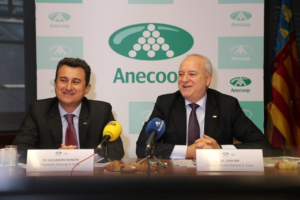 El Grupo Anecoop elevó casi un 6% su cifra de negocio, hasta 577,2 M€ en la campaña 2014/15