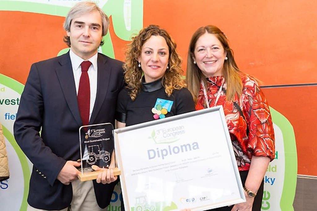 Una agricultora joven española galardonada en Europa con el premio a la explotación más sostenible