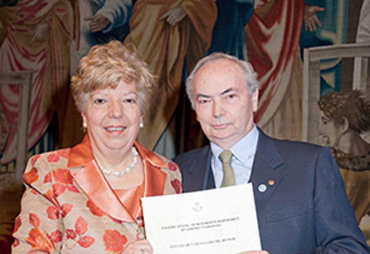 Ignacio Trueba y Felipe Medina, Colegiados de Honor del Colegio de Agrónomos