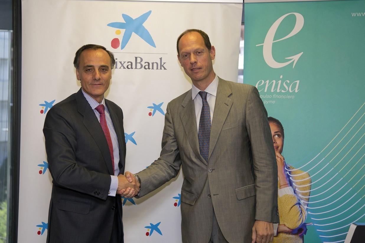 Enisa y CaixaBank firman un convenio para impulsar la financiación a las pymes