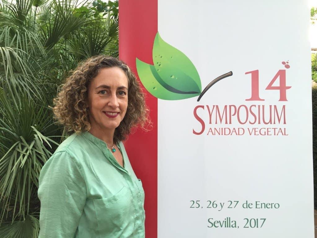 María Cruz Ledro, presidenta del 14º Symposium Nacional de Sanidad Vegetal