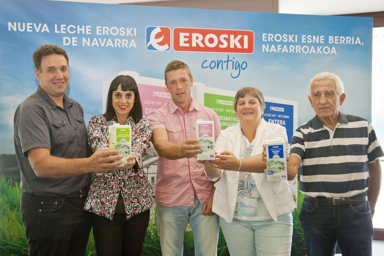 Eroski alcanza acuerdos con empresas lácteas locales para apoyar la sostenibilidad del sector