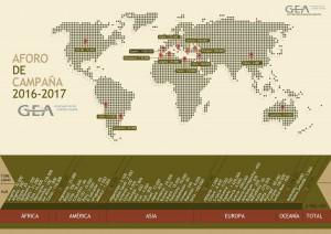 Mapa Aforo de Campaña 2016-2017