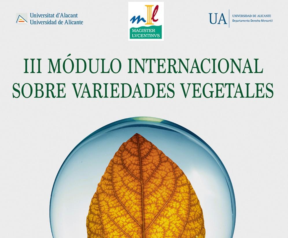 III Módulo Internacional sobre Variedades Vegetales