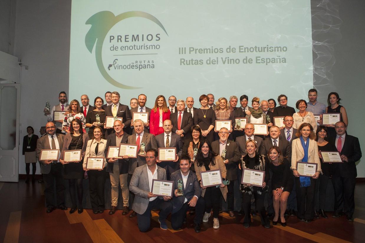 """ACEVIN entrega los galardones de los III Premios de Enoturismo """"Rutas del Vino de España"""""""