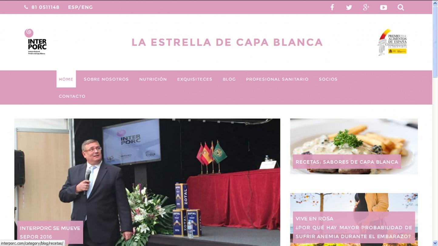 La interprofesional del porcino de capa blanca estrena nueva web