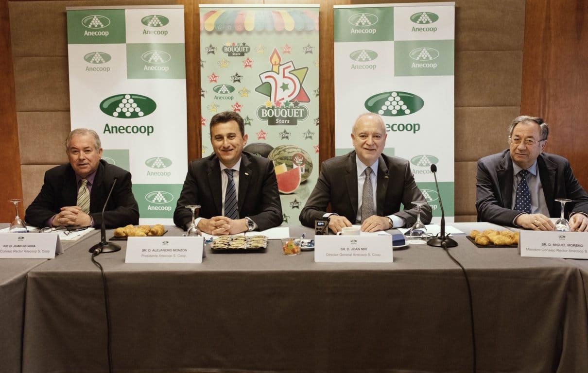 El Grupo Anecoop facturó 639 M€, con un volumen de 782.000 t de productos comercializados en la campaña 2015/16