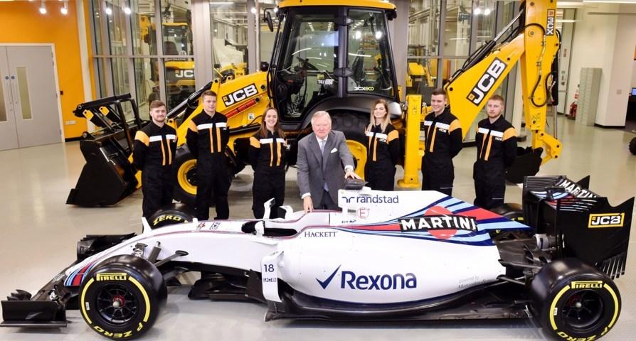 JCB firma un acuerdo con Williams Martini Racing