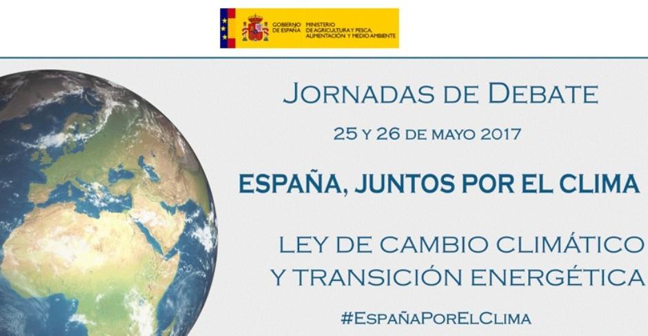 """Las Jornadas """"España, Juntos por el Clima"""" establecerán las bases para elaborar el anteproyecto de Ley de Cambio Climático y Transición Energética"""