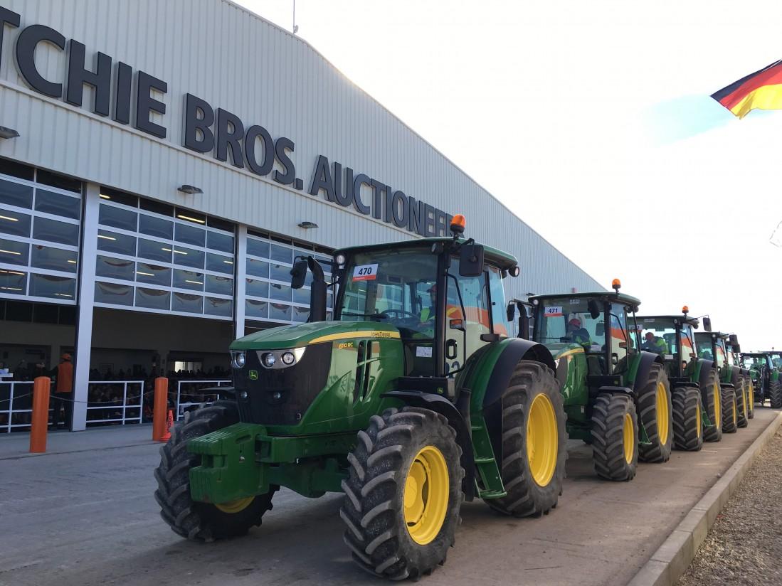 Más de 100 tractores agrícolas se subastarán en junio en Ocaña