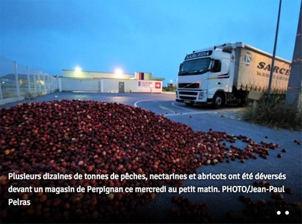 Nuevo ataque al sector hortofrutícola español en Francia
