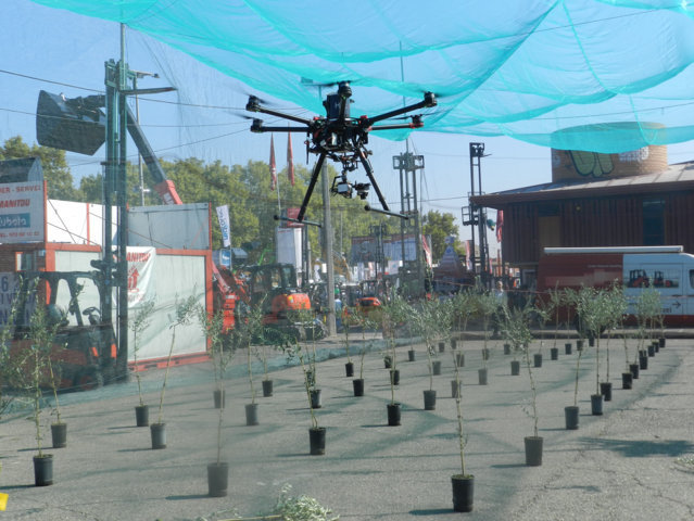 Los drones se consolidan en la feria de Sant Miquel de Lleida