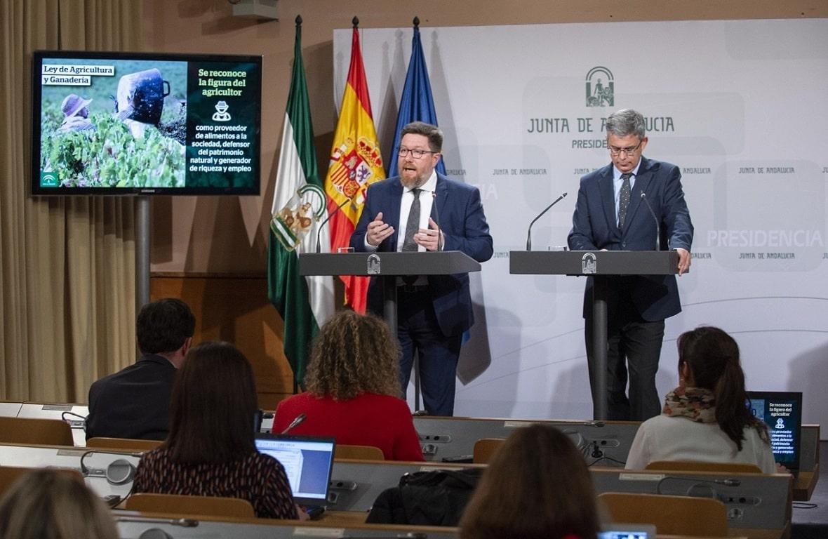 El Gobierno andaluz aprueba el proyecto de Ley autonómica de Agricultura y Ganadería