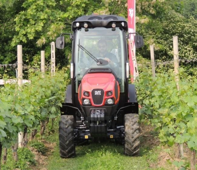 Probando el nuevo tractor Same Frutetto CVT