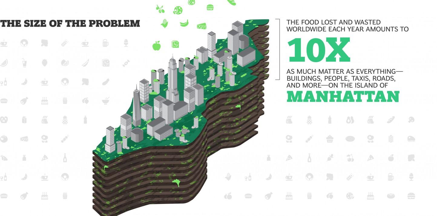 Un tercio de los alimentos producidos en el mundo acaba en la basura