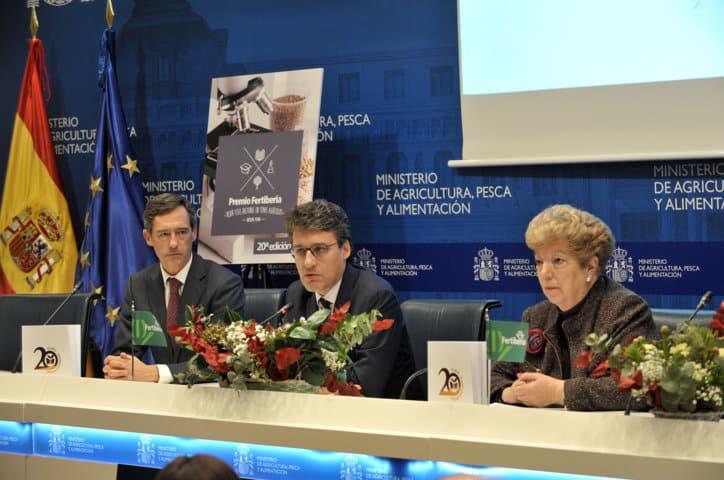Fernando Miranda preside la entrega del XX Premio Fertiberia a la Mejor Tesis Doctoral en Temas Agrícolas
