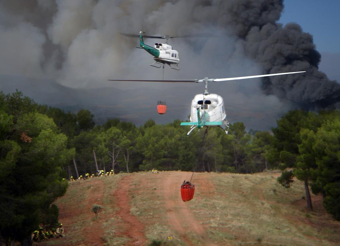 Los incendios forestales en 2018 se sitúan en el 54% de la media del decenio