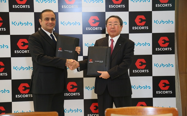 Kubota crea una joint venture con la compañía india Escorts