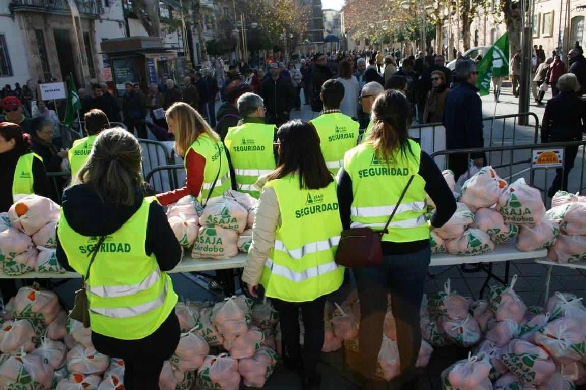 Reparto de naranjas en Córdoba por la crisis de precios del sector