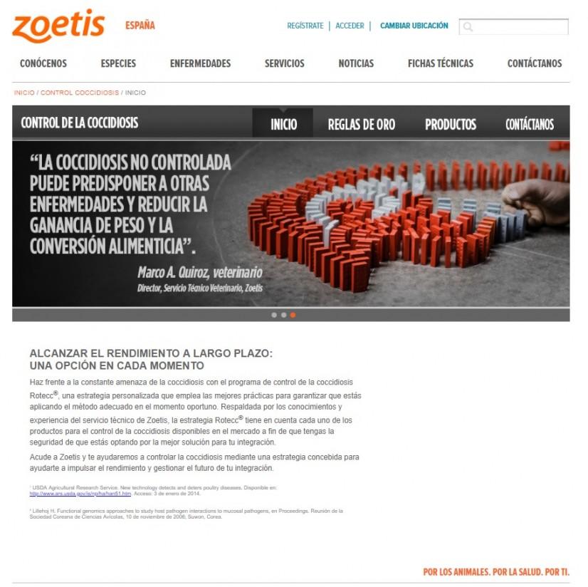Zoetis lanza una web para el control de la Coccidiosis aviar