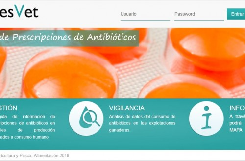 Transmisión electrónica de prescripciones veterinarias de antibióticos