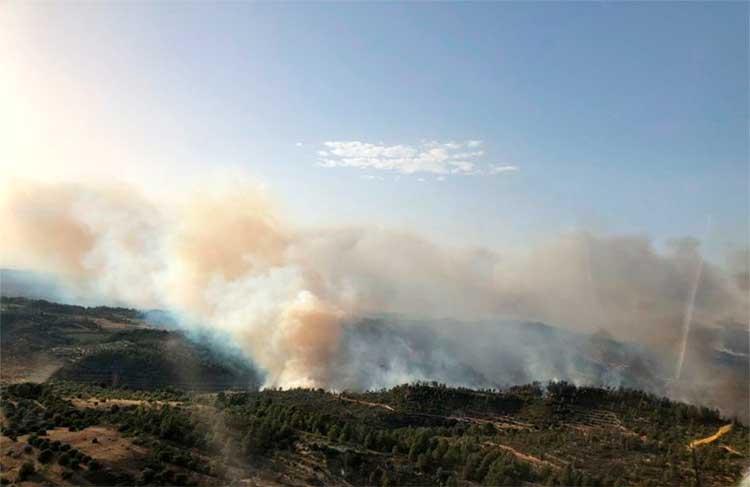 Cataluña y Madrid prohíben las labores agrícolas ante el riesgo de incendios forestales todo el fin de semana