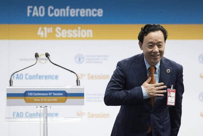 El chino Qu Dongyu es elegido nuevo director general de la Organización de Naciones Unidas para la Agricultura y la Alimentación, FAO