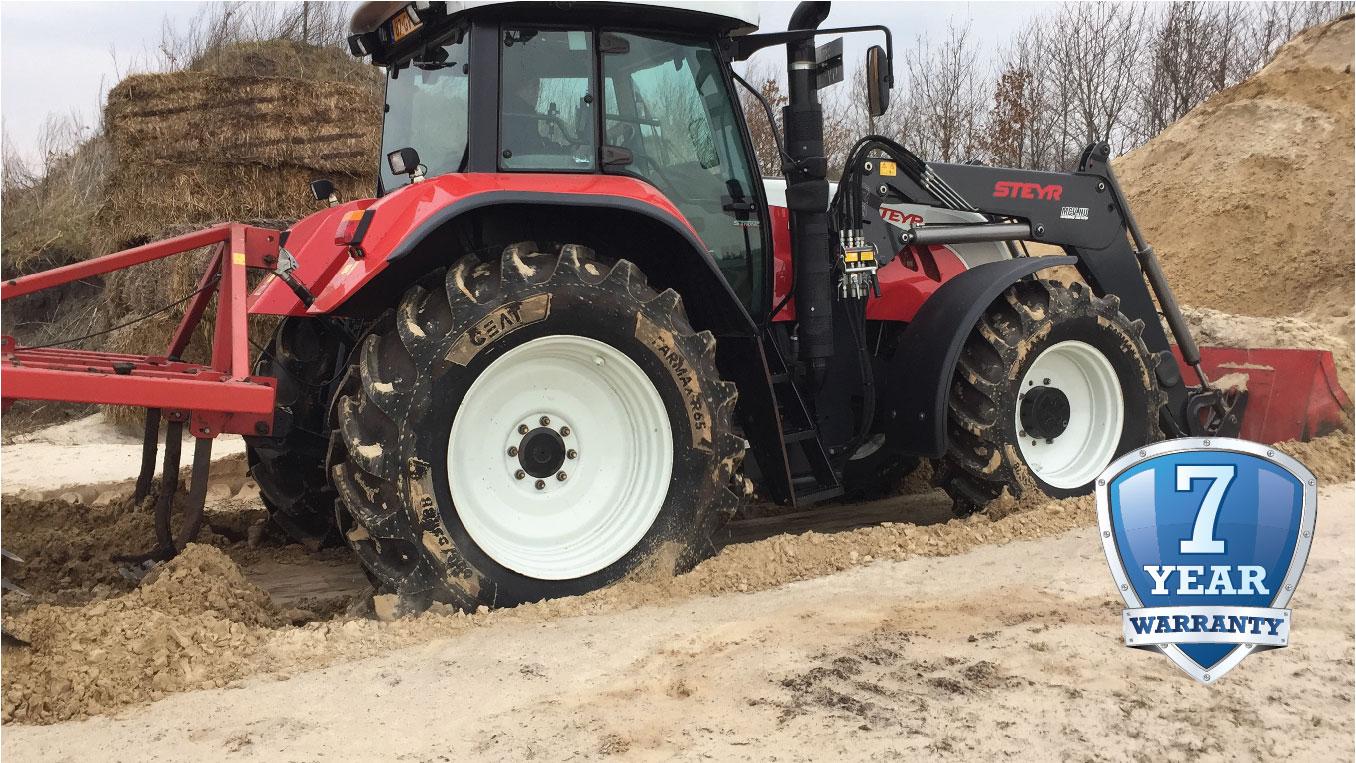 Ceat ofrece una garantía de siete años en sus neumáticos radiales para tractores