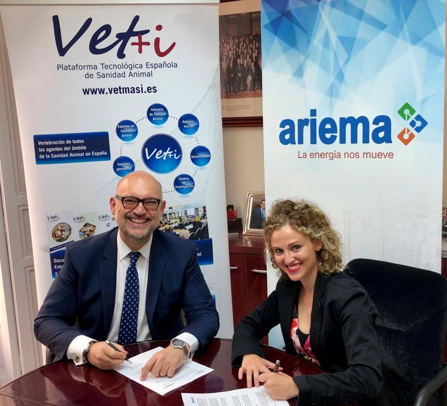 La Fundación Vet+i firma un convenio con Ariema para fomentar la I+D+i en sanidad animal