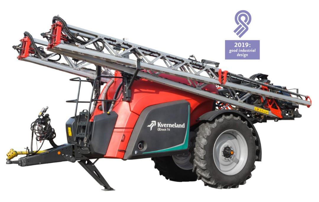 Los pulverizadores Kverneland iXtrack T, galardonados con el Good Industrial Design
