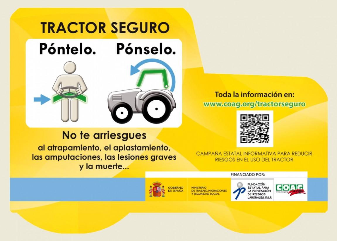 Coag lanza un campaña de prevención de riesgos laborales en el uso del tractor