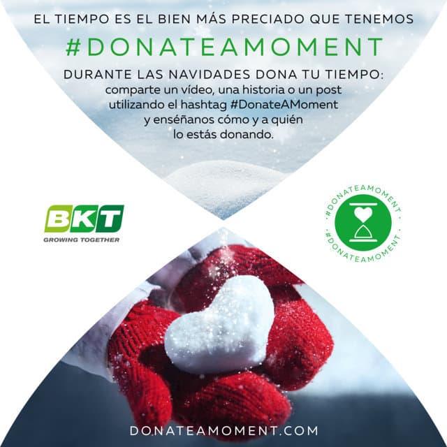 BKT pone en marcha esta Navidad la campaña #DonateAMoment