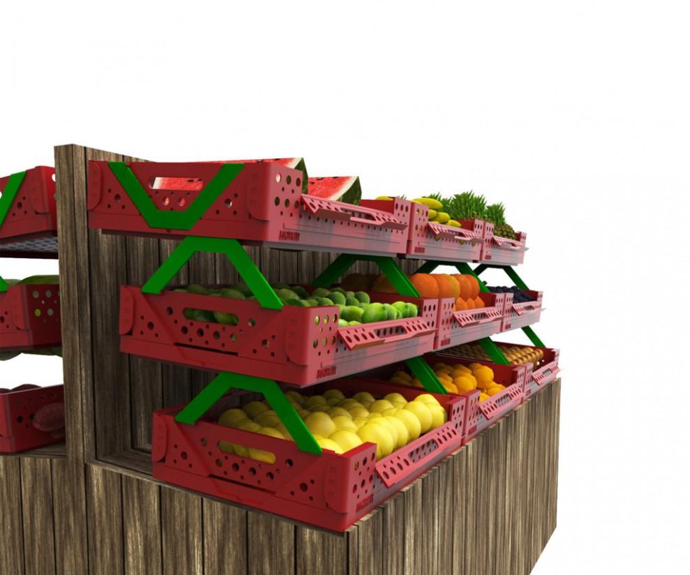 Una joven española, plata en los premios mundiales de diseño de envases por una caja para productos hortofrutícolas