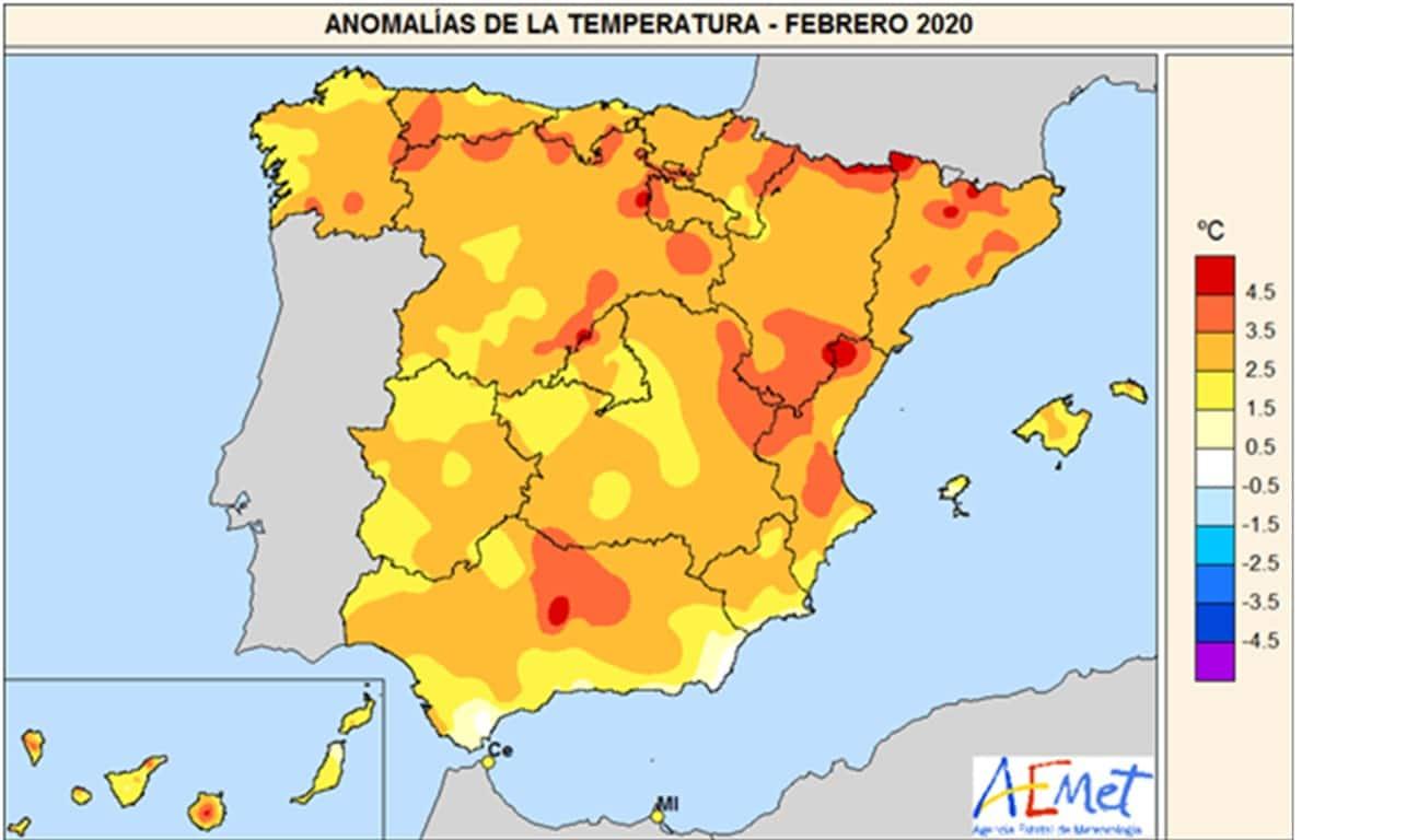 Febrero el más cálido y seco en España de los últimos 55 años