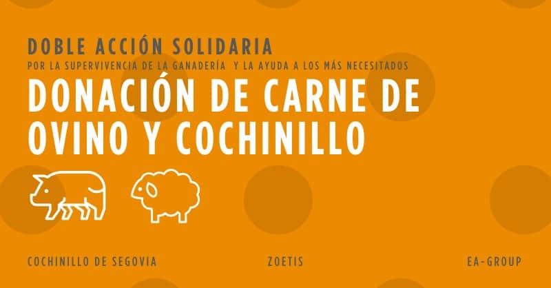 Covid-19: Zoetis dona más de 16.600 kilos de carne de ovino y porcino