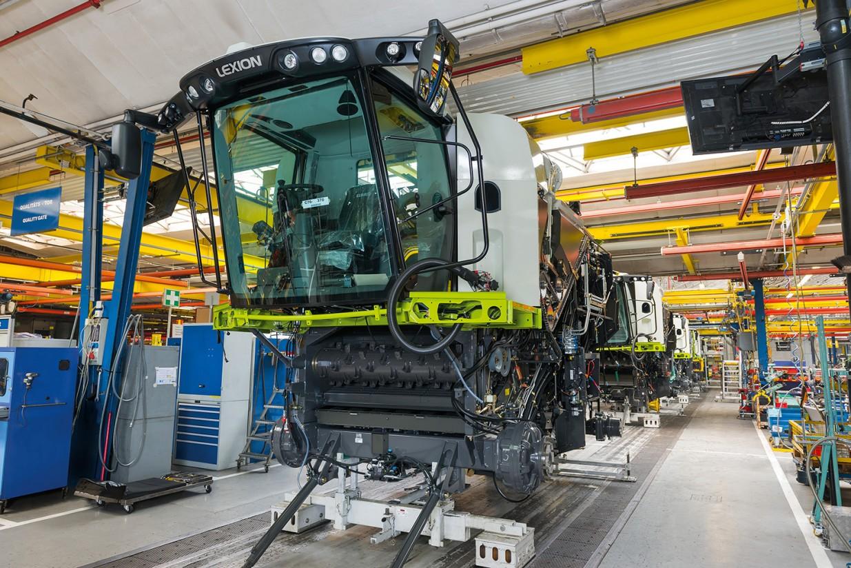 Covid-19: Claas reanuda la fabricación en serie de cosechadoras y tractores