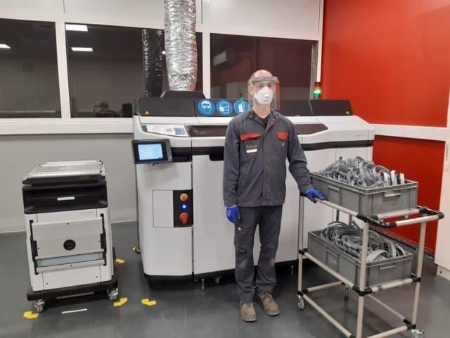 Covid-19: Massey Ferguson se une a la fabricación de pantallas faciales de protección para el personal sanitario