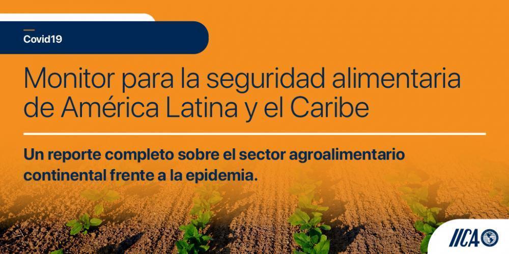 El IICA lanza un Monitor con información clave sobre seguridad alimentaria en América Latina y el Caribe