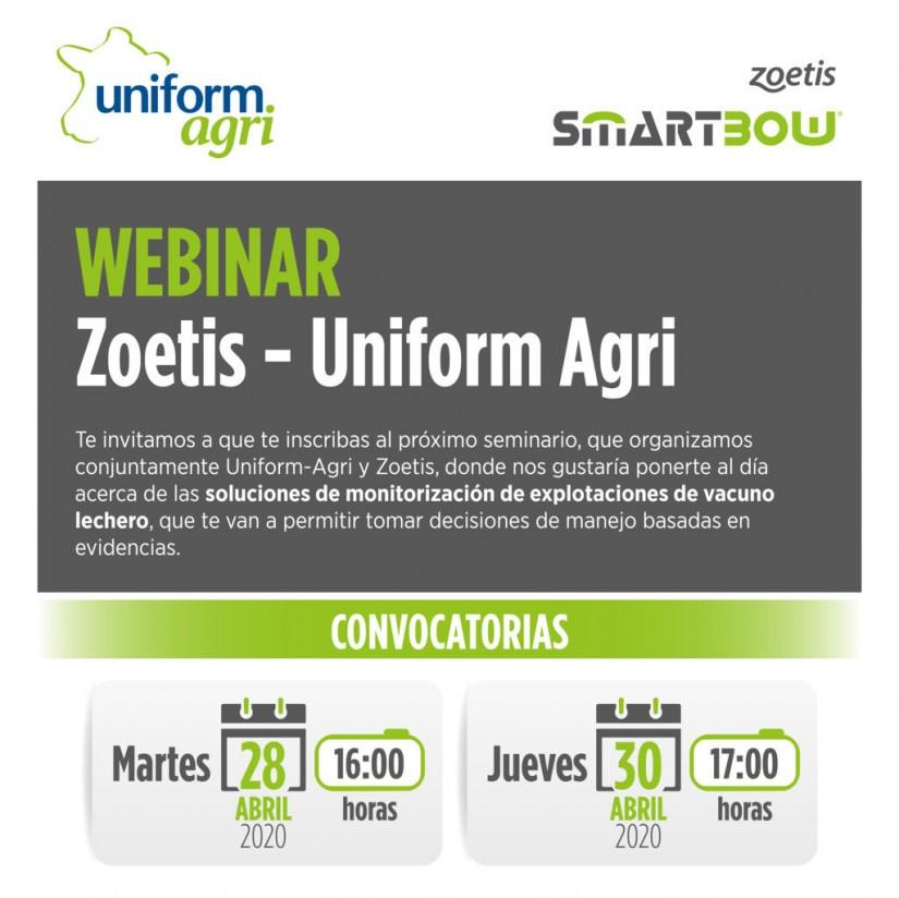 Zoetis y Uniform-Agri celebran un seminario online sobre monitorización en vacuno lechero