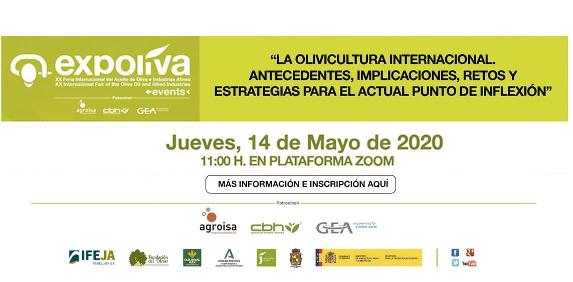 El primer Diálogo Expoliva Online se celebrará el próximo 14 de mayo