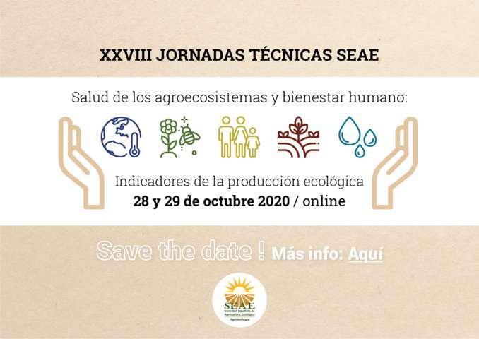Las jornadas técnicas de la Sociedad Española de Agricultura Ecológica, ahora en formato online