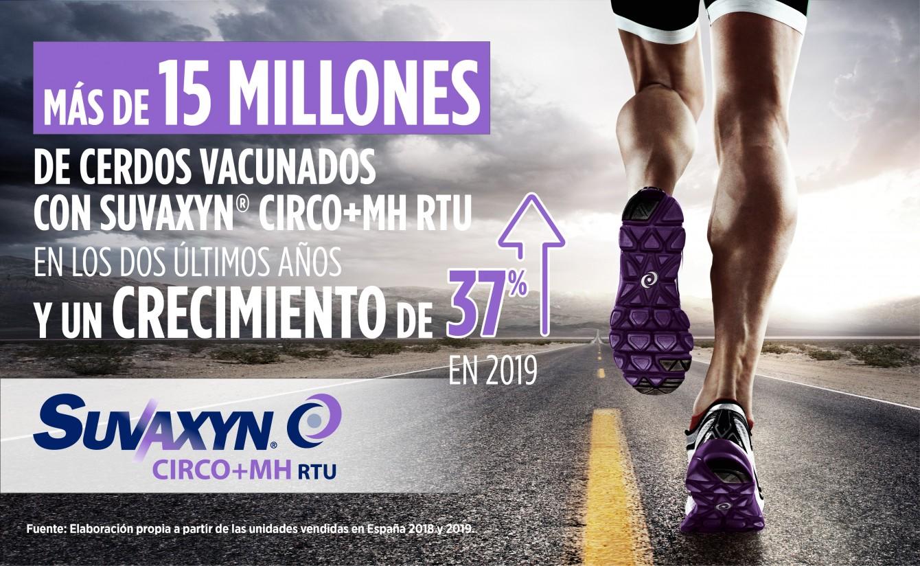 15 millones de cerdos vacunados con Suvaxyn Circo+MH RTU de Zoetis