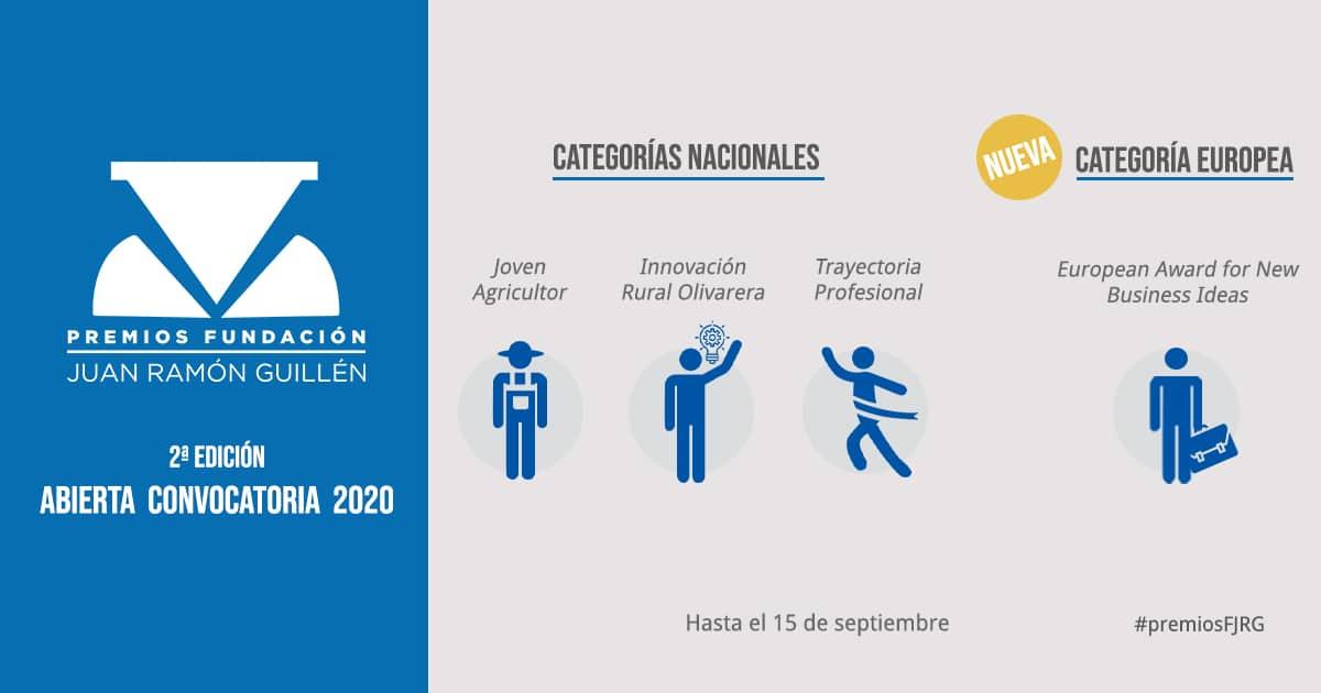 Convocada la II Edición de los Premios Fundación Juan Ramón Guillén a las mejores iniciativas del sector olivarero