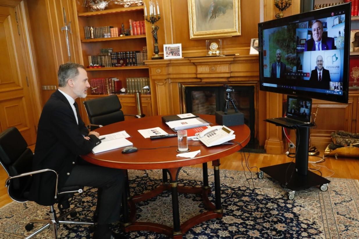 El Rey se reúne por videoconferencia con los productores de porcino