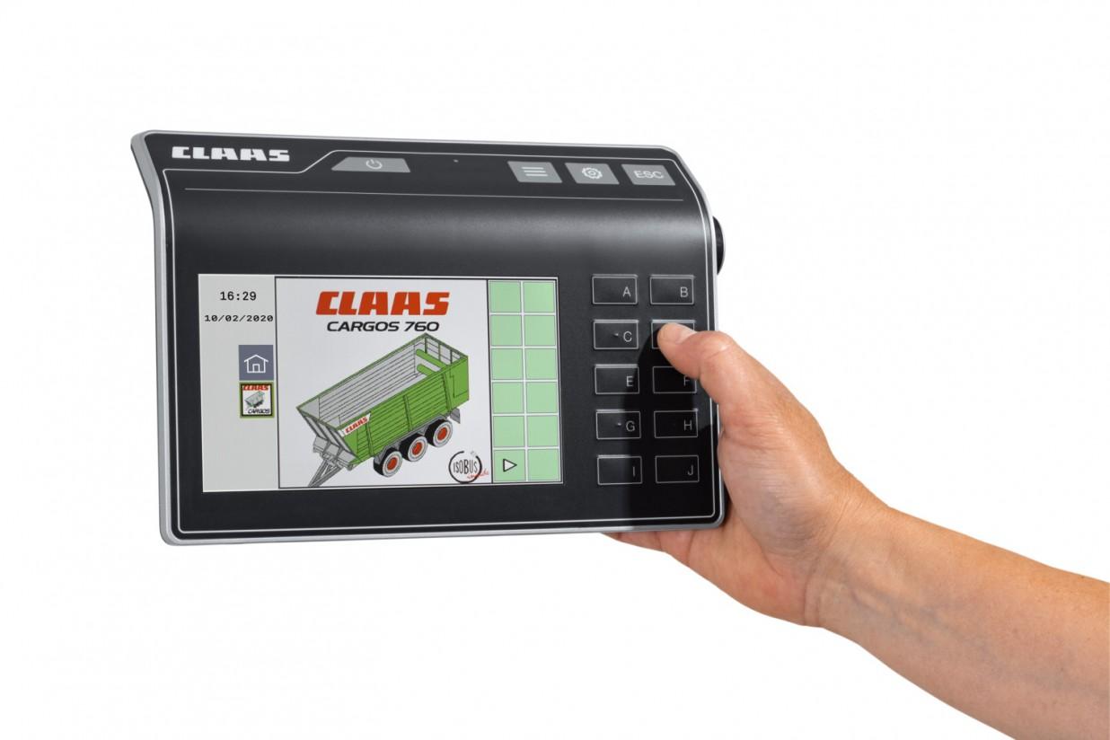 Nueva consola Claas Cemis 700 para aplicaciones Isobus