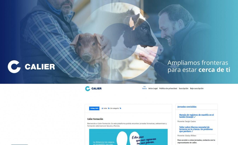 Calier conecta a más de 1.500 veterinarios a través de su web de formación online