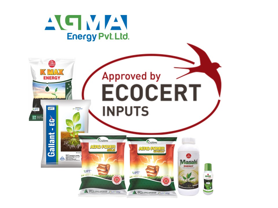 AgMA Energy obtiene la certificación Ecocert para sus productos agrícolas de microalgas
