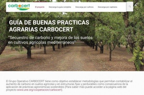 Los agricultores pueden descargar gratuitamente la Guía de Buenas Prácticas CARBOCERT para mejorar el secuestro de carbono en suelos agrícolas