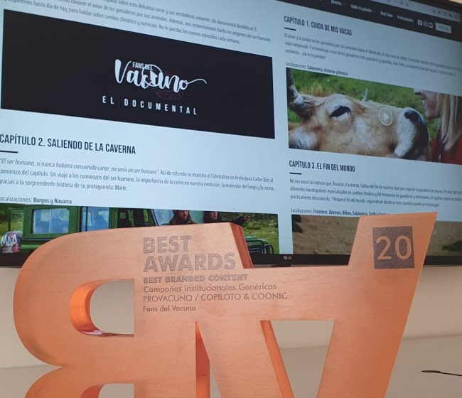 Provacuno recibe el oro en los Best Awards de Alimentaria 2020